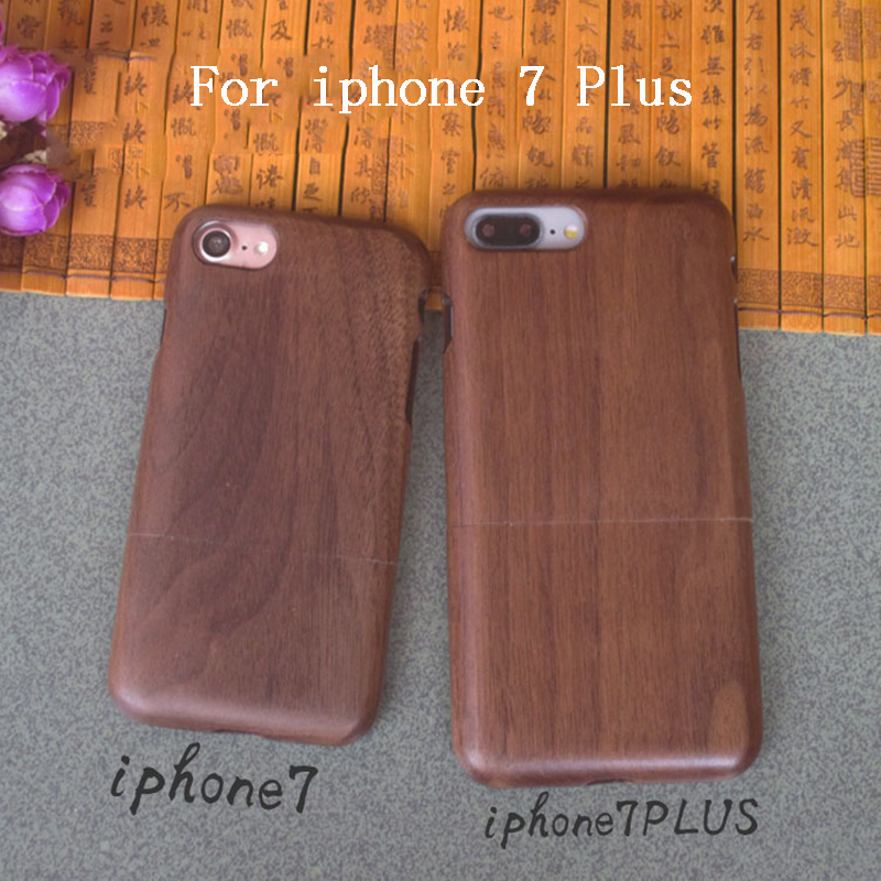 2018 luxury For Apple iphone 7 Plus case, qimei Natural bamboo and wood shell back cover case for iphone7/iphone7plus