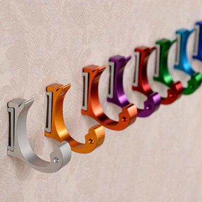 14 Pcs Aluminum Multicolor Wall Hook Mounted Bathroom Towel Hanging Holders Robe Hooks