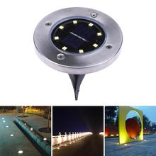 4pcs 8 LED Solar Light Outdoor Ground Water-resistant Path Garden Solar Lamp Lights Yard Lawn Pathway Night Lamp Dropshipping