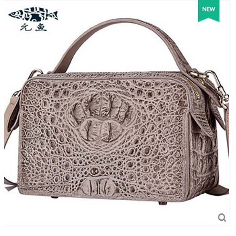 yuanyu new hot free shipping crocodile skin women handbag single shoulder bag high-end women handbag inclined shoulder bg yuanyu 2018 new hot free shipping python skin women handbag single shoulder bag inclined female bag serpentine women bag