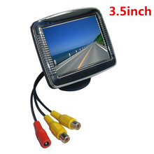 3.5 Polegada TFT LCD Estacionamento Car Rear View Monitor de Tela Para Carro Câmera Reversa de Backup Camera DVD