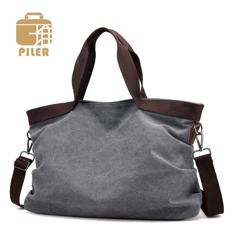 Canvas Handbags Casual Bucket Tote Shoulder Bag Canvas Female Handbags Crossbody Bag Woman