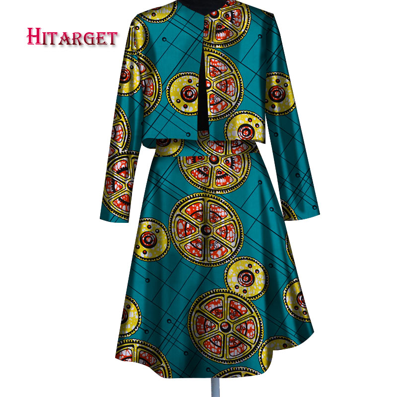 African handsome suit skirt for women cool professional Dashiki shirt design cotton clothing 6XL WY007