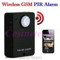 Cheap Mini Wireless PIR Sensor Motion Detector Anti Theft GSM Alarm System PIR MP ALERT Monitor