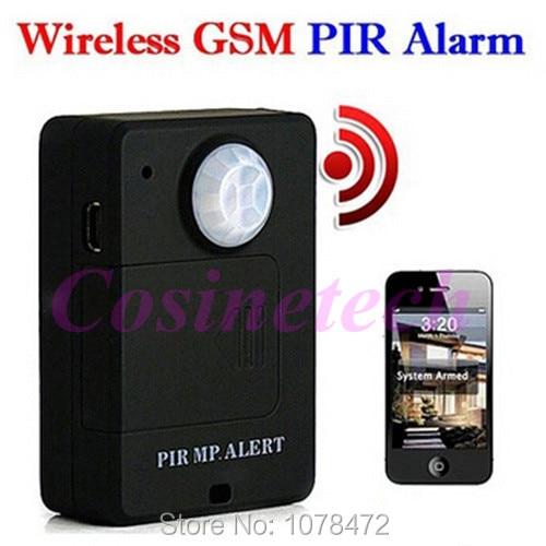A9 barato mini Sem Fio PIR MP. ALERTA PIR Sensor Detector de Movimento Anti-roubo Sistema de Alarme GSM Monitor Remoto Dropshipping controle