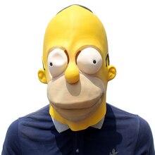 Drôle Cosplay Simpson masques adulte taille unique Latex masque dessins animés personnages carnaval accessoires fête fantaisie balle Costume adulte taille unique