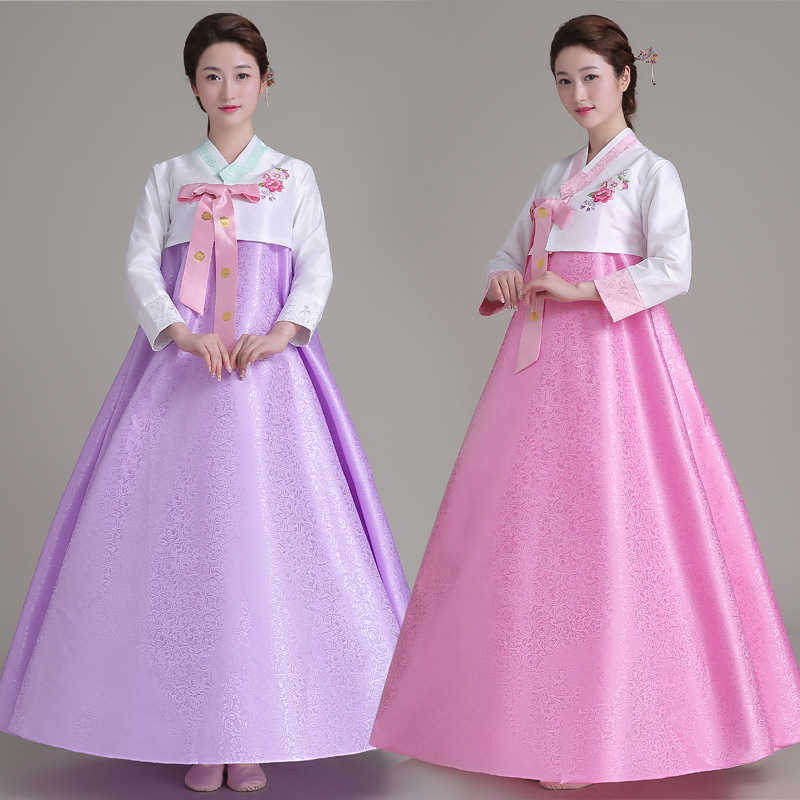 New Arirval Korean Traditional Hanbok Dress Women Dance Costume Clothing