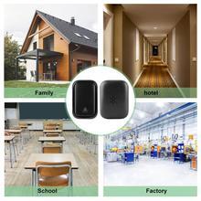 1V1 Wireless Doorbell Kit Self-generating Transmitter Receiver Door Bell 58 Chime Doorbell Kit цены онлайн
