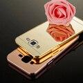 Novo luxo metal de alumínio caso para samsung galaxy j5 j500f j500 moda tampa do telefone espelho de prata de ouro