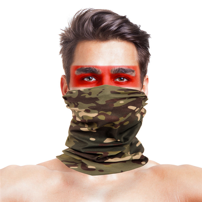 60 Colors Multi Function   Scarves     Wraps   Bandanas Polyester Military Camouflage Face Mask Windproof Neck Warmer Headband   Scarves