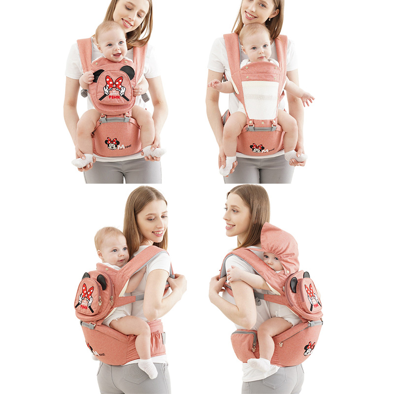 Disney Breathable Multifunctional Front Facing Baby Carrier Infant Baby Sling Backpack Pouch Wrap Disney Accessories