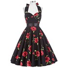 Save 11.9 on Summer Dresses Women Floral Print Sleeveless Short Casual Cotton Sexy 50s Vintage Dress Vestidos Pinup Rockabilly Dress Hepburn