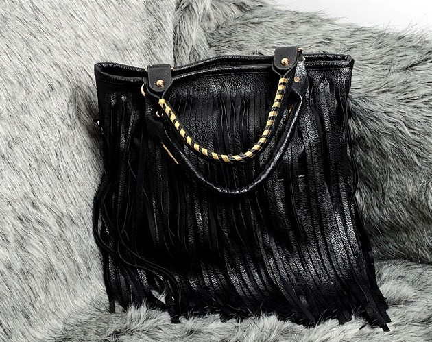 New female hand bag shoulder cross body casual chic bag PU tassel big bagNew female hand bag shoulder cross body casual chic bag PU tassel big bag