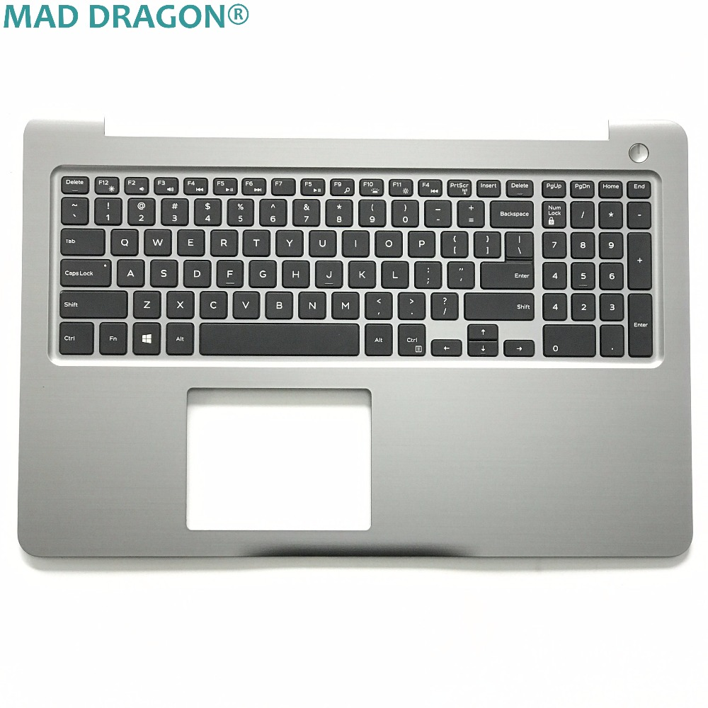 MAD DRAGON brand new and original laptop keyboard for DELL INSPIRON 15 5565 5567 US Backlit keyboard and palmrest  PT1NY  0PT1NY new for sony vaio svf152c svf153 svf152c29x palmrest english us laptop keyboard touchpad case black no backlit