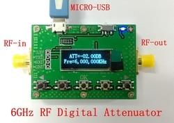 6G digital programable atenuador 30DB paso a paso 0.25DB pantalla OLED CNC de módulo de radiofrecuencia