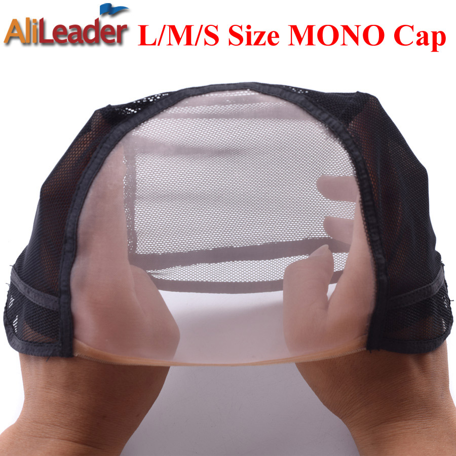 Made In Korea L/m/s Monofilament Wig Caps For Making Wigs Adjustable Nylon Wig Cap Hair Net 1pc Silk Top Wig Cap Bonnet Perruque Volume Large Tools & Accessories Hairnets