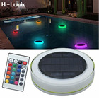 Hi-Lumix Solar LED RGBW Swimming Pool Light Garden Party Bar Decoration 7 Color Changing IP68 Waterproof Pool Pond Floating lamp