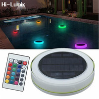 Hi Lumix Solar LED RGBW Swimming Pool Light Garden Party Bar Decoration 7 Color Changing IP68 Waterproof Pool Pond Floating lamp