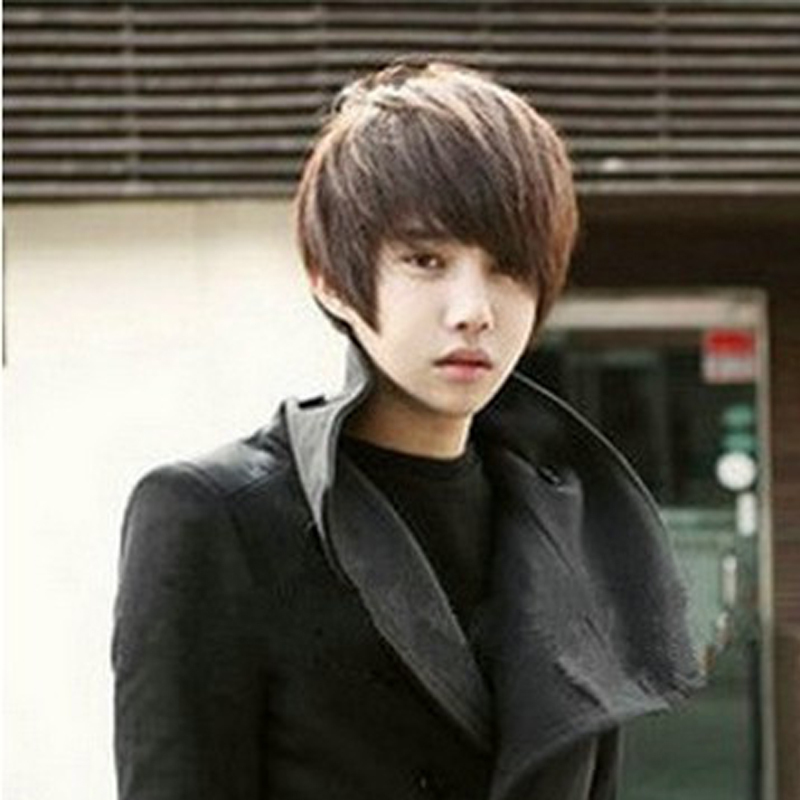 2016 Hot Sales Boys Wig New Korean Full Lace Men Student Wig Fashion