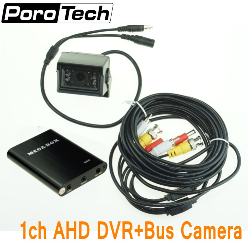 HD 720P Mini 1Ch AHD DVR and 1.3 million pixel AHD camera CCTV Security Camera for Car/Bus/Home 1 Channel CCTV DVR Support 128GB