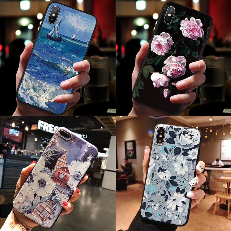 Silicone 3D Emboss TPU For <font><b>Samsung</b></font> Galaxy A30 A50 A40 A70 Note 8 9 4 M10 M20 M30 A3 A5 A6 A7 <font><b>A9</b></font> A8 Plus 2018 2017 <font><b>2016</b></font> A20e Case image
