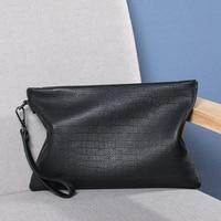 Wmnuo Luxury Men Wallets Handy Bags Male Cow Leather Purse Men's Clutch Black Business Carteras 2018 Men Handbag Phone Coin Bag