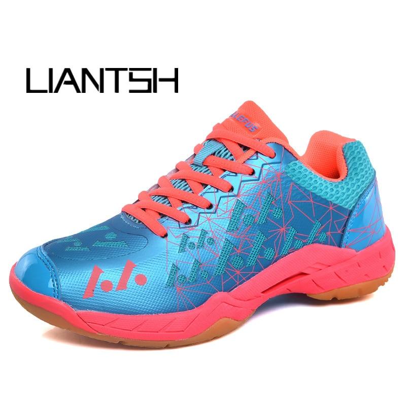 Chaussures de Badminton professionnelles pour hommes femmes baskets de Badminton Lefusi Couples baskets de Badminton chaussures de Tennis de Sport d'intérieur