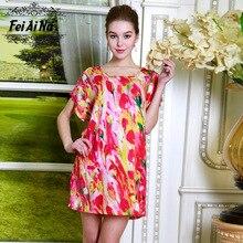 Summer  Women Silk Satin Nightgown Night Dress Sexy Robes Silk Robe Bathrobe Longue Femme Plus Size Nightwear Nightdres M7701-2