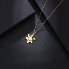 DOTIFI Stainless Steel Necklace For Women Man Lover's Snow Gold And Silver Color Pendant Necklace Engagement Jewelry(China)