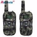 2 pcs Camuflagem Mini Walkie Talkie Rádio Crianças Retevis RT33 8CH 0.5 W PMR446 VOX Display LCD de Carregamento USB Two-Way Amador rádio