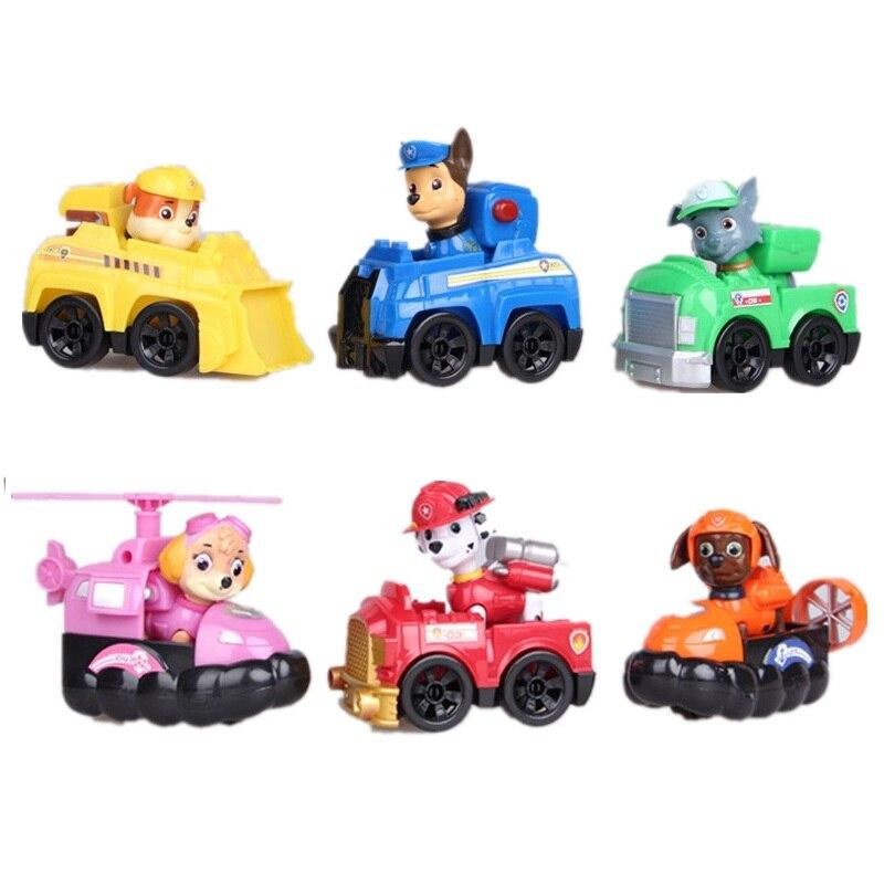 Yeni Yavru Devriye patrulla canina oyuncak Action Figure Köpekler Anime Oyuncaklar Heykelcik Arabalar Plastik Oyuncak Çocuk Hediyeler bebek çocuk oyuncakları