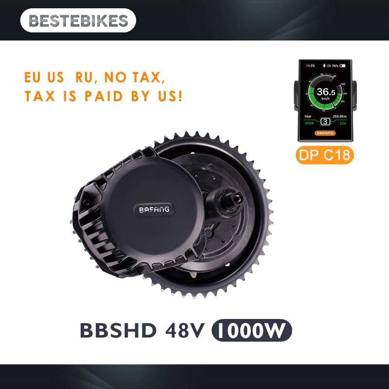 Bafang motor BBSHD 48 V 1000 w bbs03 motor de meados de carro kit de conversão bicicleta elétrica motor elétrico velo electrique elétrica kit bicicleta