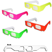 faddbea007 5pcs lot Eyewear Holidays Fireworks Paper Diffraction glasses with 13500  Lines clear lens for night