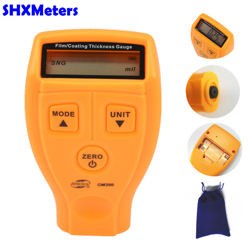 New Digital 0-1.8mm/0.01mm LCD Coating Thickness Gauge Car Paint Thickness Meter Auto Car thickness tester Diagnostic Tool gm200 mini digital automotive 0 1 8mm 0 01mm paint coating thickness gauge car paint thickness meter tester car diagnostic tool
