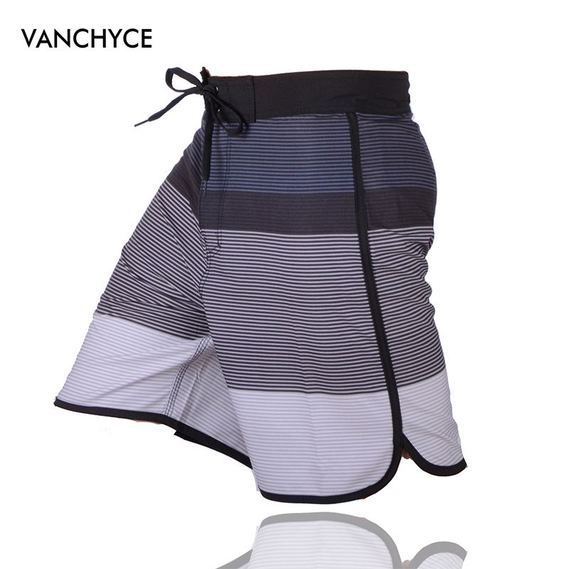 VANCHYCE Summer   Shorts   Men Beach   Shorts   Men Bermuda   Short   Quick Dry Silver Mens Boardshorts   Board     Shorts   Brand Swimwear Men