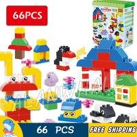66pcs My First Polar Baby animals Zoo Park Penguin Creative Model Building Blocks Toys Bricks Compatible With Lego Duplo