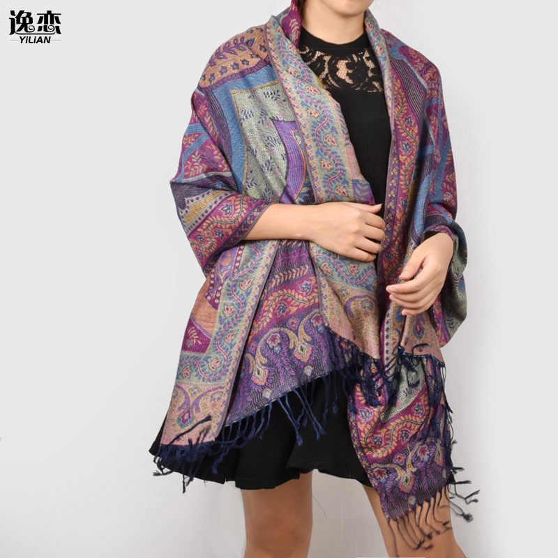 芸連店スカーフ高級ブランドホット販売女性 200*70 センチ特大綿スカーフなめらかなタッチスカーフシックな植物パシュミナ JB010
