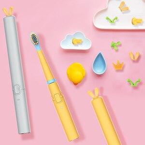 Image 3 - を SEAGO 子供の漫画電動歯ブラシ子供かわいいソフトデュポン毛防水充電式超 sonic sonic 歯ブラシ EK9