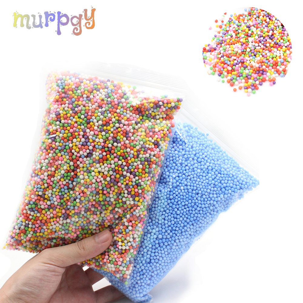 2019 Foam Beads Slime Supplies Balls Charms Addition Filler For Slime Tiny Snow Accessories Mud Particles Antistress Toys