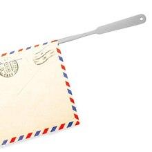Металлические открывалки для букв из нержавеющей стали легкий серебряный Конверт для резки бумаги с острым покрытием инструменты для резки