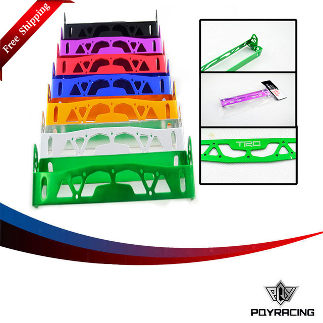 PQY RACING- FREE SHIPPING TRD ALUMINUM LICENSE PLATE FRAMES FRAME TAG HOLDER FOLDABLE PQY-LPF61