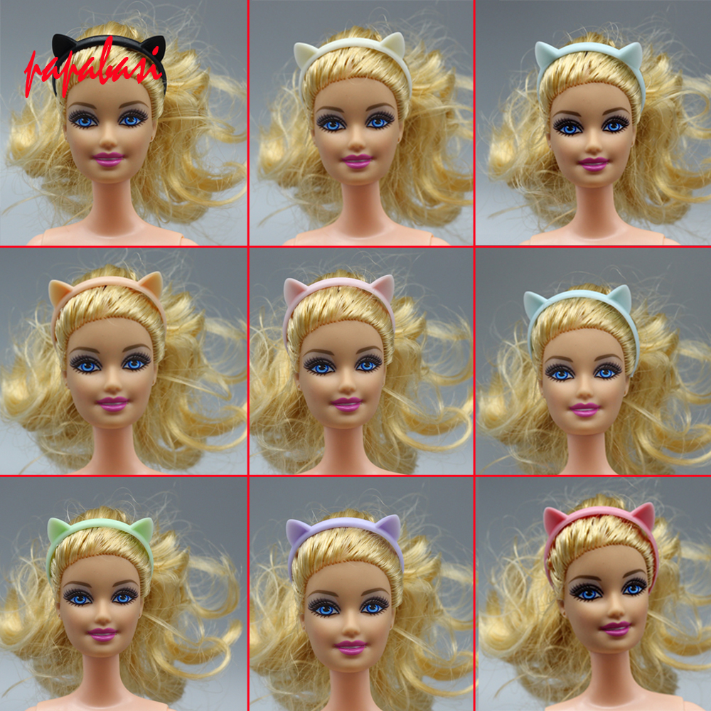 1PCS Doll Accessories mini colourful Cat ear hair band for Barbie dolls as for 1 12