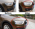 Chrome ABS Car Headlamps Frame Decal Trim For Audi Q3 Front Lights Cover Decals Car Styling