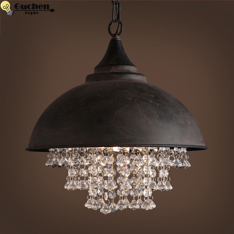 Vintage crystal pendant lights led luste Home Decor Design ceiling fixtures living room bedroom kitchen Shop