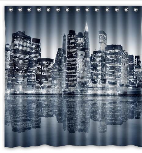 Curtains Ideas cityscape shower curtain : Online Buy Wholesale manhattan shower curtain from China manhattan ...