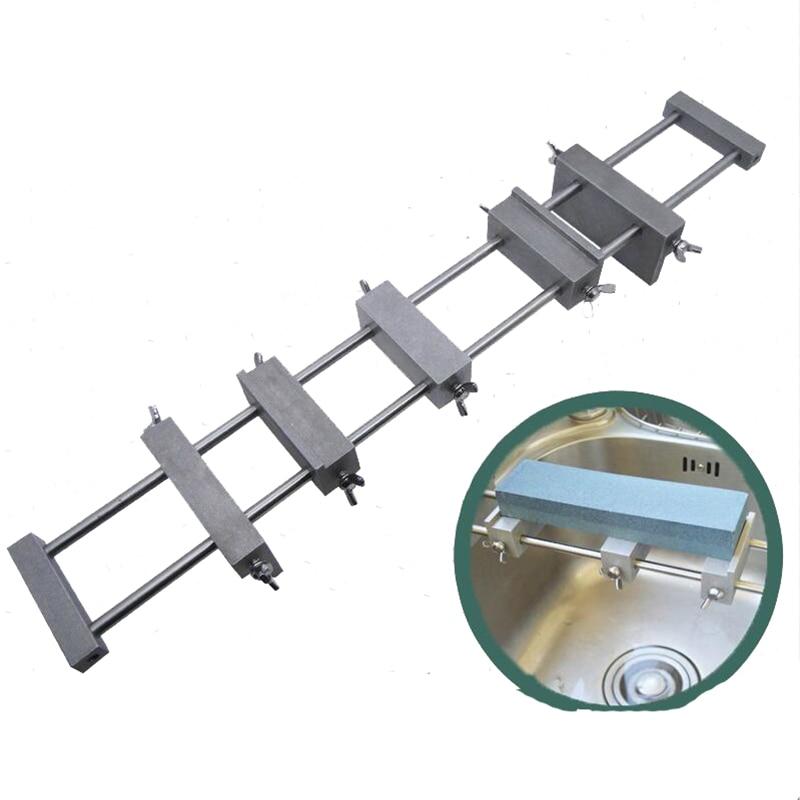Kitchen Whetstone Non slip sink base Metal sharpening anti skid holder stainless steel+Aluminum alloy-in Sharpeners from Home & Garden    1