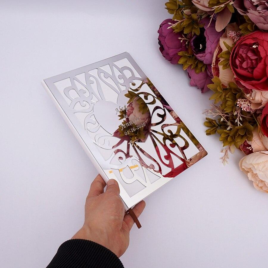Personalised Wedding Mr /& Mrs Guest Book /& Pen Blank Album Gift