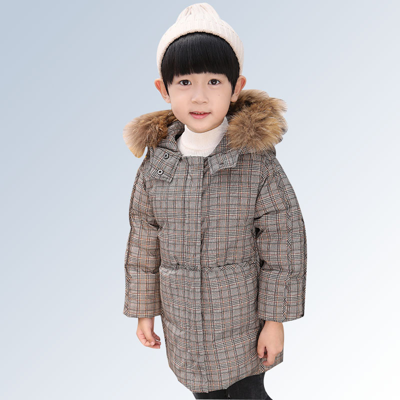Children Boys Parka Clothes 2018 Baby Kids Winter Jacket with Fur Collar Long Warm Hooded Cotton Coats for 2 3 4 6 8 Years Old boys winter parka jacket kids fur collar coats for teenager boys cotton outwear school children kids down jacket hooded clothes