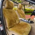 1 unids Australia Lana Cojín Del Asiento de Coche De Lujo de Una sola pieza de piel de Oveja de Lana Corta de Automóviles de Felpa Esteras Universal Fit Frontal Cubierta de asiento