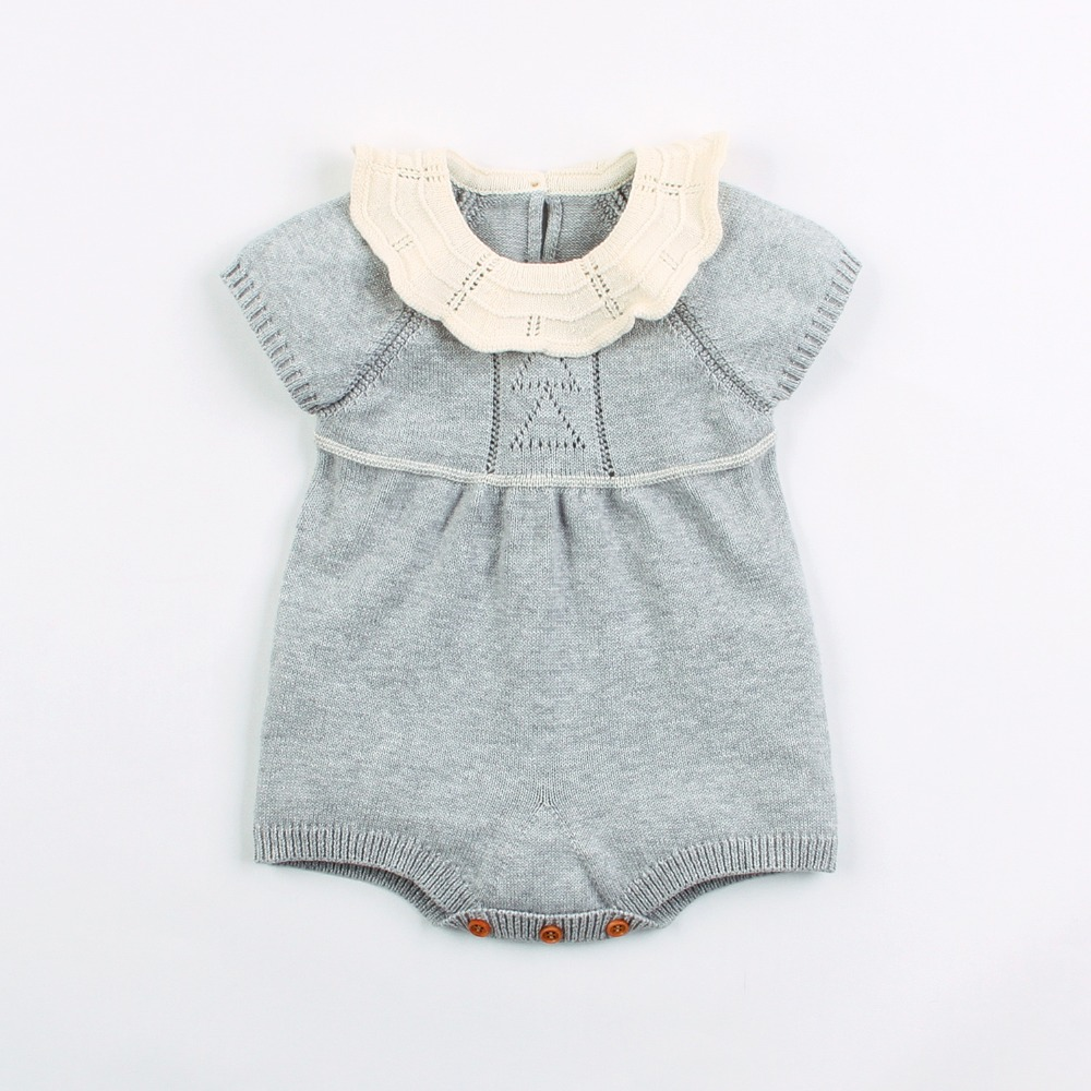 Infant Bebe Girls Bodysuit Summer Flying Sleeve Newborn Baby Body Tops Onesie Solid Color Knitted Toddler Kids Jumpsuits ClothesInfant Bebe Girls Bodysuit Summer Flying Sleeve Newborn Baby Body Tops Onesie Solid Color Knitted Toddler Kids Jumpsuits Clothes